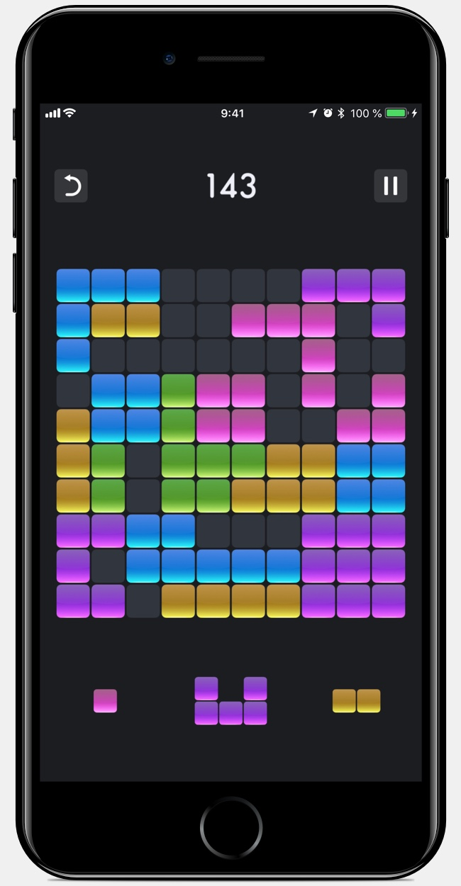 10x10 game for iPad and iPhone