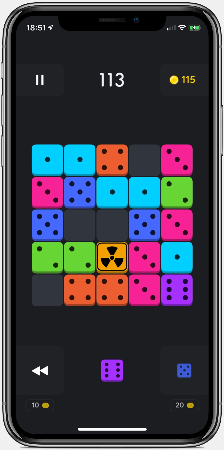 Blockk game for iPad and iPhone