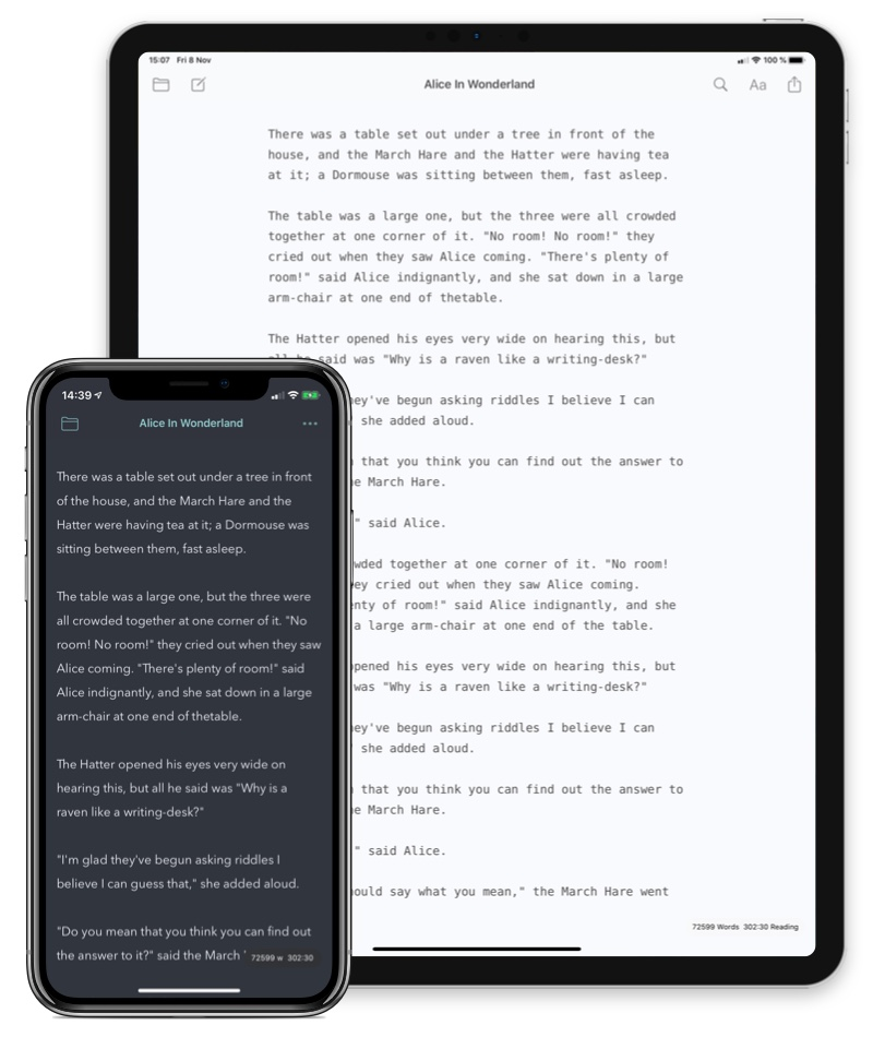 iWriter for iPad and iPhone