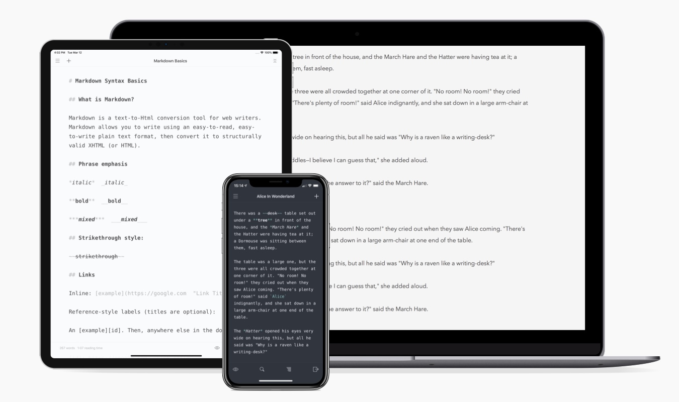 iWriter Pro for Mac, iPad and iPhone